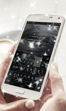 Black Chrome Keyboard Theme poster