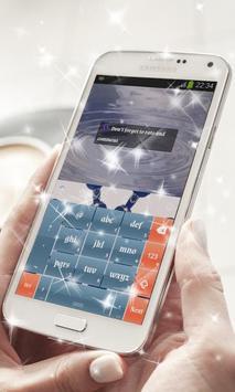 Blue Dot Keyboard Theme apk screenshot