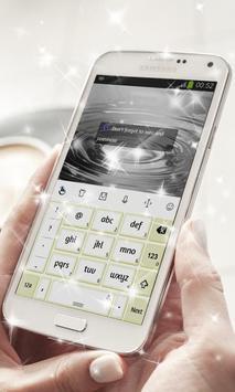 Bright White Keyboard Theme apk screenshot