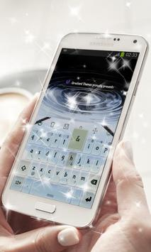 Clear Blue Sky Keyboard Theme apk screenshot