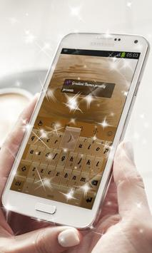 Deep Brown Keyboard Theme apk screenshot