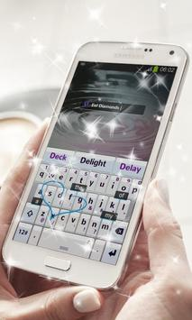 Eel Diamonds Keyboard Theme apk screenshot