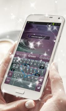 Futuristic lights Keyboard apk screenshot