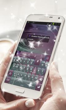 Futuristic lights Keyboard poster