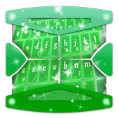 Fluorescent green Keyboard icon