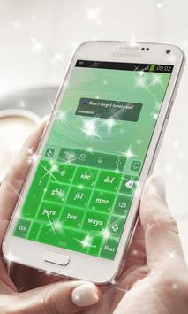 Fluorescent green Keyboard apk screenshot