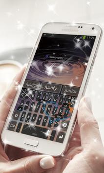 Galaxy spin Keyboard Theme screenshot 6