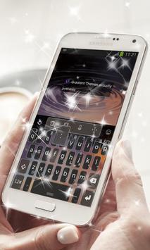 Galaxy spin Keyboard Theme screenshot 8