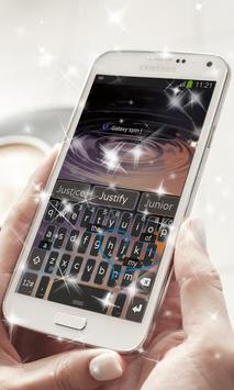 Galaxy spin Keyboard Theme screenshot 2