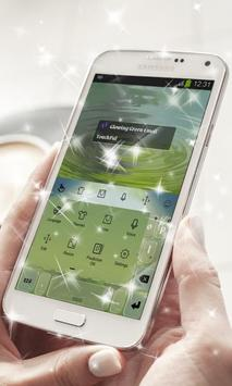 Glowing Green Keyboard Theme apk screenshot