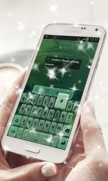 Green Water Keyboard Theme poster
