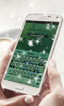 Green Water Keyboard Theme apk screenshot