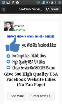 SeoClerck Store apk screenshot