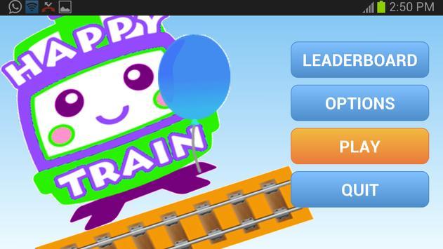 Happy Rail Train Kids Stars poster