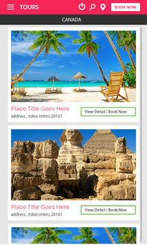 Tours and Travels - Mobile Application apk screenshot