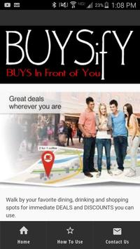 BUYSify - BUYS In Front of You poster