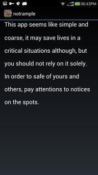 NoTrample screenshot 2