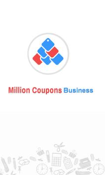 Million Coupons Business poster