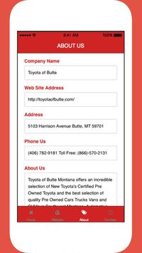 Toyota of Butte apk screenshot