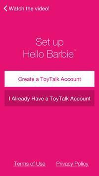 Hello Barbie Companion App screenshot 1