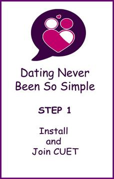Cuet - Chating , Flirting and Dating App poster