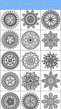 Flower Mandala Coloring Pages Free Color Therapy Screenshot 10 For Android Apk