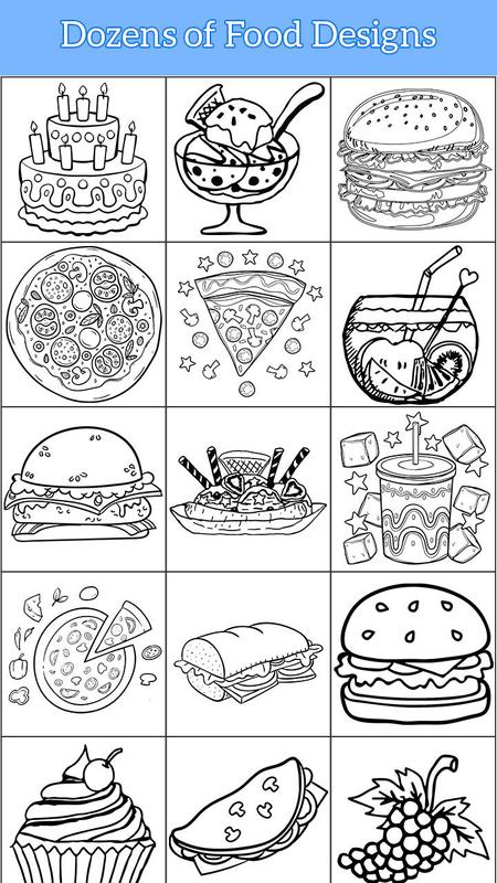 Android Için Yemek Boyama Sayfaları Yemek Pişirme Kitabı Apkyı