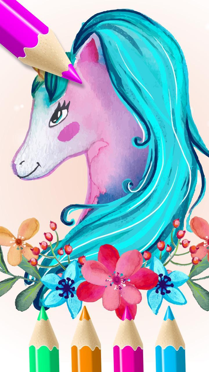 Rainbow Unicorn Island Coloring Book For Android Apk