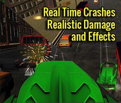 Traffic Highway Racer Speed 3D poster