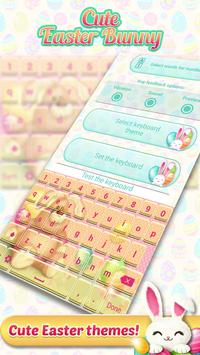 Cute Easter Bunny Keyboard poster