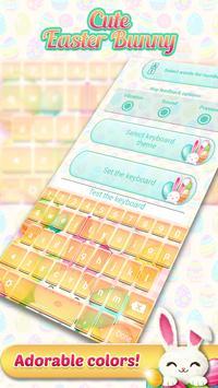 Cute Easter Bunny Keyboard screenshot 3