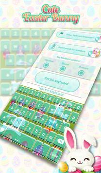 Cute Easter Bunny Keyboard screenshot 6