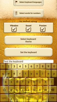 Beer Custom Keyboard Theme apk screenshot