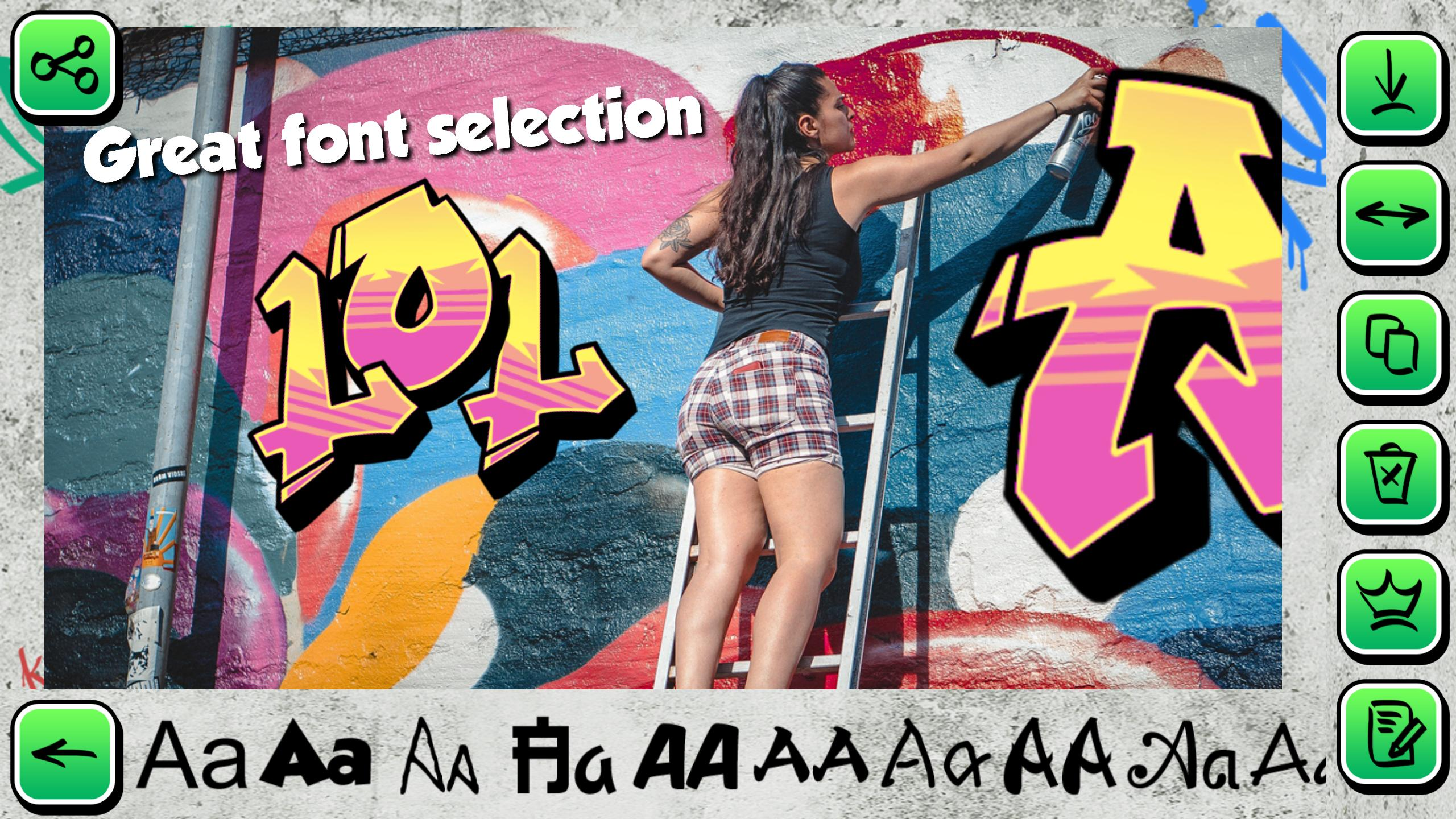 Graffiti Creator on Photo Text for Android - APK Download