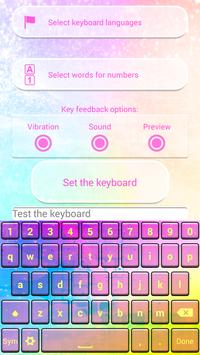 Dream Colors Keyboard Theme poster