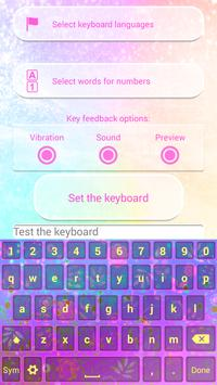 Dream Colors Keyboard Theme apk screenshot