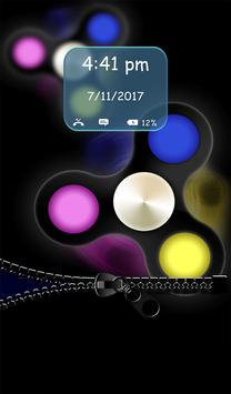 Fidget Spinner Zipper Lock Screen apk screenshot