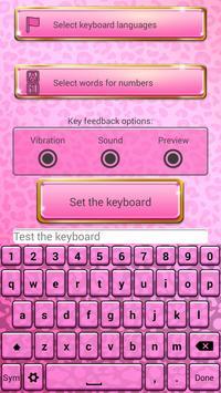 Pink Cheetah Keypad Customizer apk screenshot