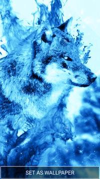 Ice Fire Wolf Wallpaper screenshot 3