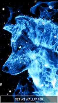 Ice Fire Wolf Wallpaper screenshot 1