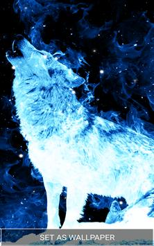 Ice Fire Wolf Wallpaper Screenshot 5