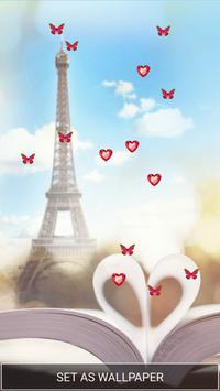 Love in Paris Live Wallpaper poster