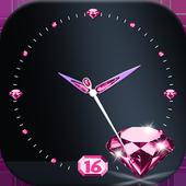 Moving Diamond Wallpaper Clock icon