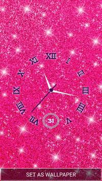 Moving Diamond Wallpaper Clock poster