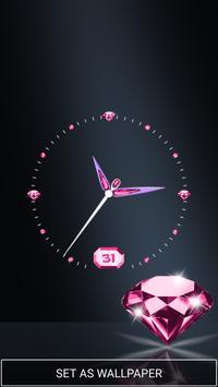 Moving Diamond Wallpaper Clock screenshot 1