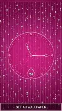 Moving Diamond Wallpaper Clock screenshot 3