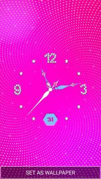 Moving Diamond Wallpaper Clock screenshot 4