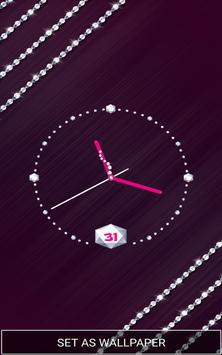 Moving Diamond Wallpaper Clock screenshot 5