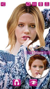 Hair and Eye Color Changer Photo Editor apk screenshot