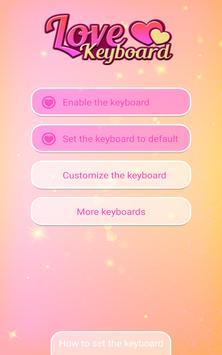 Love Keyboard with Emoticons screenshot 5